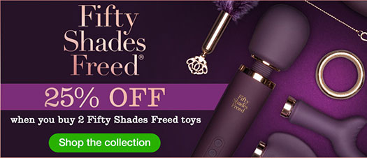 Lovehoney Fifty Shades Freed Sale Banner