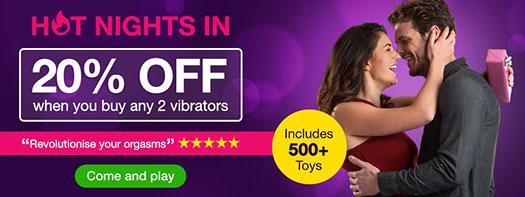 Lovehoney Vibrator Sale Banner