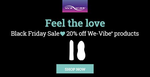 We-Vibe Black Friday Sale Banner
